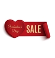 Valentines Day Sale banner vector image