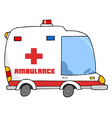 Ambulance Vehicle vector image vector image