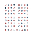 Set color icons of house system vector image
