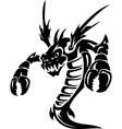 Sea Monster - Vinyl-ready vector image vector image