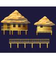bungalows set vector image