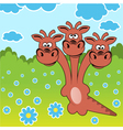Dragon on the summer glade vector image
