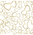 Two Hearts Seamless Pattern Romantic Wrapping vector image