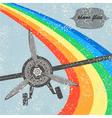 Vintage flight Plane background vector image