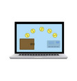 wallet card electronic money vector image