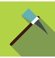 Pick axe tool icon flat style vector image