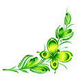 corner flower butterfly vector image