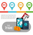 time travel infographic vacation info vector image
