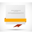 Banner with orange ribbon vector image vector image