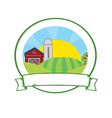 Pilgrim farm cartoon vector image vector image