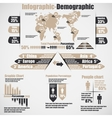 INFOGRAPHIC DEMOGRAPHIC NEW STYLE 10 BROWN vector image vector image