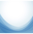 Blue abstract wavy background template vector image