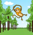 monkey in a jungle vector image vector image