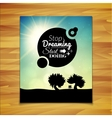 Stop dreaming strart doing phrase typographic vector image