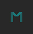 M logo letter blue thin many lines minimal vector image