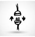Socket plug grunge icon vector image vector image
