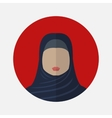 female arabic avatar vector image
