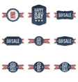 Independence Day realistic festive Banners Set vector image