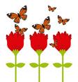butterflies flying vector image