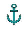 cartoon anchor nautical travel maritime vector image