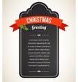 Chalkboard Christmas vintage invitation and label vector image