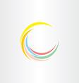 colorfull summer wave logo design vector image