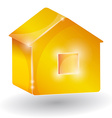 House three-dimensional on a white background vector image