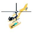 Isometric emergency helicopter vector image