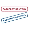 Passport Control Rubber Stamps vector image