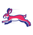 running rabbit mascot vector image