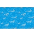 sea with curly waves vector image