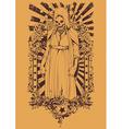 Zombie religious symbol vector image