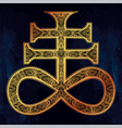 the satanic cross the seal of demon leviathan vector image