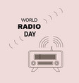 radio day vector image