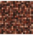 Square Pixel Brown Mosaic Background vector image