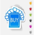 realistic design element buy sign vector image