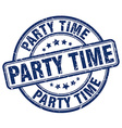 party time blue grunge round vintage rubber stamp vector image