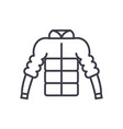 down jacket line icon sign vector image