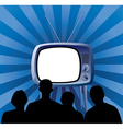 Family watching tv set vector image