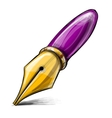 Old fashioned ink pen vector image