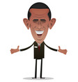 president obama character vector image