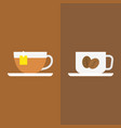 tea with tag label and coffee vector image