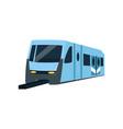 underground train locomotive subway transport vector image