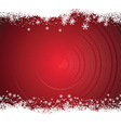 Snowy Christmas background vector image