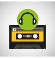 earphones music cassette tape vector image