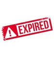 Expired rubber stamp vector image