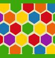 retro geometric hexagon pattern vector image vector image