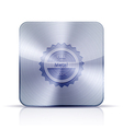 metal app icon on white background Eps10 vector image vector image