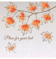 Linden leaf orange style with place for your text vector image