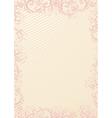 beige floral wallpaper vector image